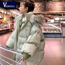 Parkas Coat เสื้อ หลวมหญิงของแข็ง