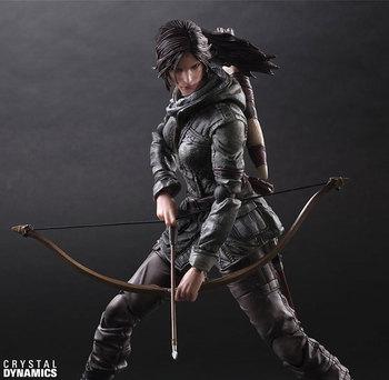 Action Figure Rise of The Tomb Raider Lara Croft Play Arts Kai PVC 26cm Playarts Lara gift Toys doll Collectible Model anime