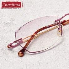 Женские градиентные цветные линзы очки алмазные безободковые