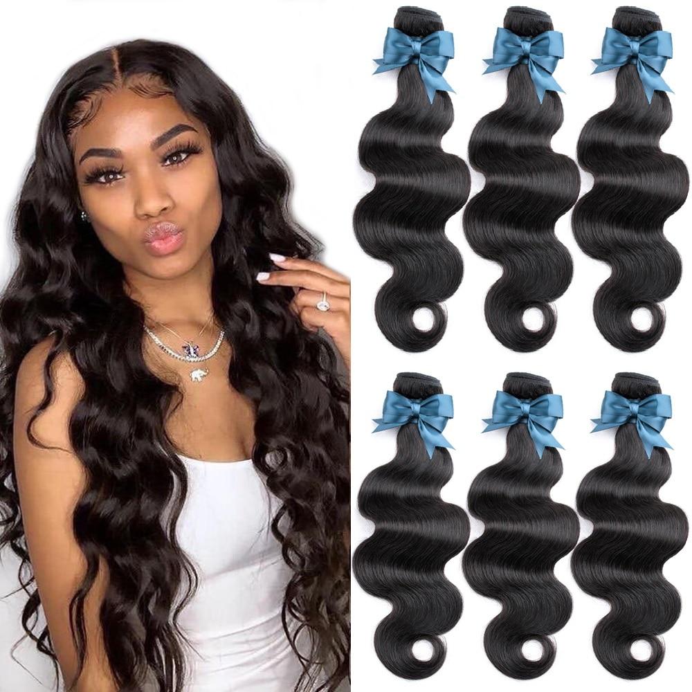 Beaudiva onda do corpo brasileiro comprar 1/3/4 pçs 100% feixes de tecer cabelo humano onda do corpo pacotes tecer cabelo brasileiro pacotes ofertas