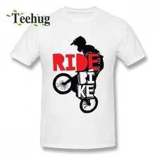 Fashion Cool BMX Design Ride Bike Bicycle For Men Boys Gift Tee Boy Casual Summer 100% Cotton T Shirt