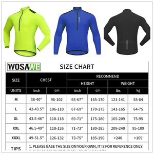 Image 5 - WOSAWE High Visibility Men Cycling Clothes Gel Pad Waterproof Fleece Tight Pants Jersey Set Shirts MTB Bike Sports Suit Clothing