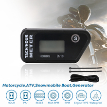 Waterpoof Wireless Vibration Hour Meter for Dirt Quad Bike, ATV Motorcycle, Snowmobile, Marine, Motocross, All Gasoline Engine