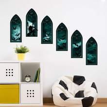 Decals Waterproof DIY Ghost Bat Halloween Wall Sticker Bedroom Living Room Decoration