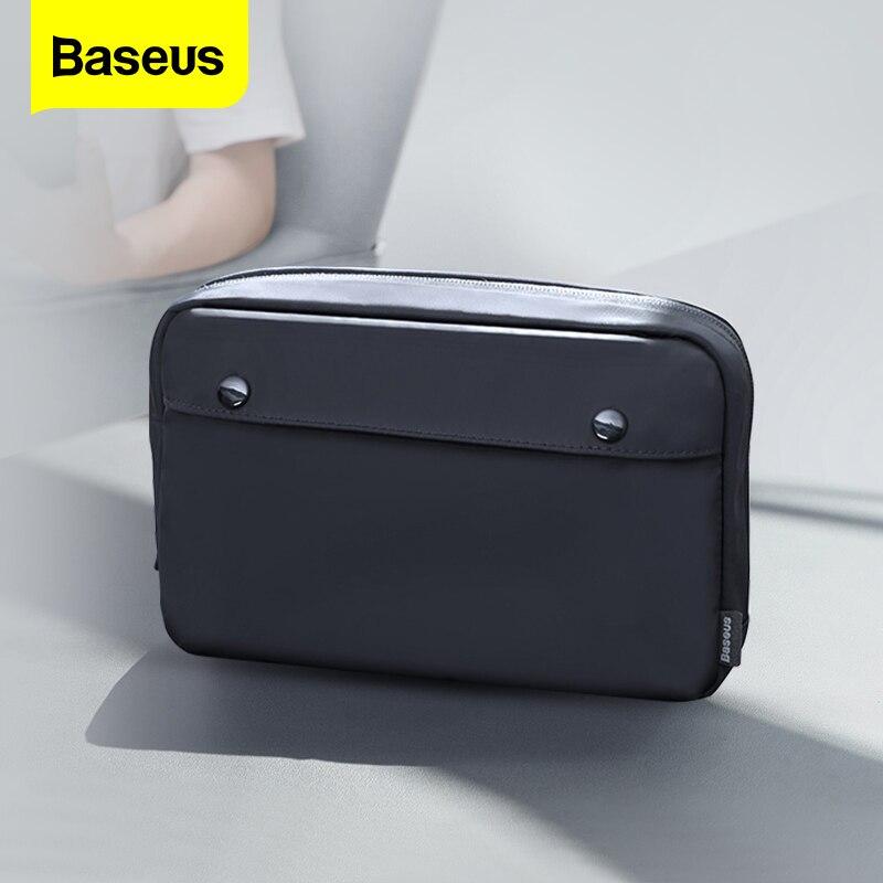 Baseus Phone Bag Case For iPhone 11 Huawei Samsung Xiaomi Portable Digital Storage Bag Fabric Waterproof Travel Bag Phone Pouch