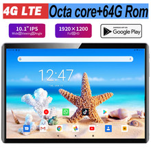 2021 Hot sales 10 inch Tablet 1920x1200 HD Real pixel 8.0MP 5G Wifi 4G LTE Octa Core Android 9.0 Pie 64GB ROM Phone Call Tablet
