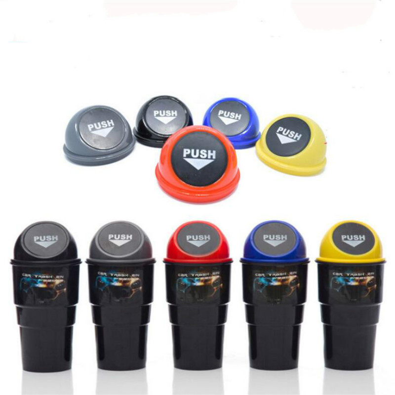 Car Trash Garbage Can Auto Trash Dust Case Holder Bin Box Car-styling Can Rubbish Box Dust Case Holder Car Trash