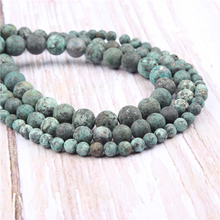 Frosted African Pine Natural?Stone?Beads?For?Jewelry?Making?Diy?Bracelet?Necklace?6/8/10/mm?Wholesale?Strand