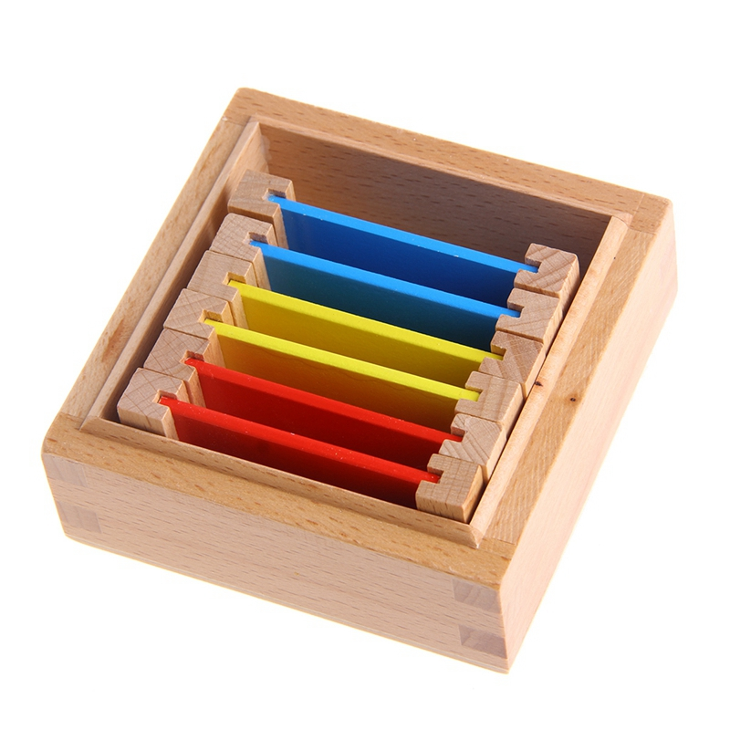 Sensorial Material Learning Color Tablet Box Wood Preschool Training Kids Puzzle Educational Toys For Children