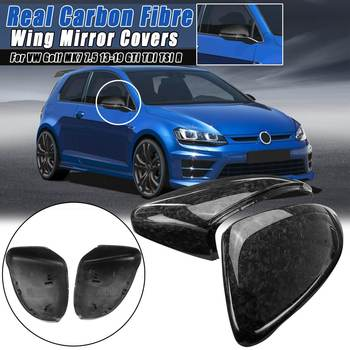 2pcs Real Carbon Fibre Side Wing Mirror Cover Ffor Vw Golf Mk7 7 5 13 19 Gti Tdi Tsi R For Golf 6 Gti R20 Mk6 08 12 Buy At The Price Of 114 32 In Aliexpress Com Imall Com