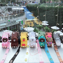 3D Cute Cartoon Case For Apple Iphone X XR XS Max Case For Iphone 5 5S SE 6 6S 7 8 Plus Soft Silicone Lovely Animal Print Cover cute 3d rilakkuma silicone case cover for iphone se 5s 5 black