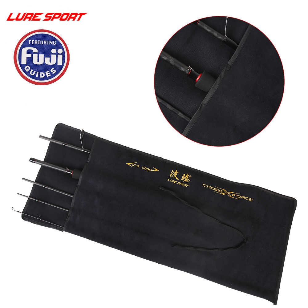 LureSport 旅行 Fsihing ロッド 2.1 メートル/2.4 メートル Fuji ガイドリールシート X-クロスカーボンスピンキャストルアー釣り竿