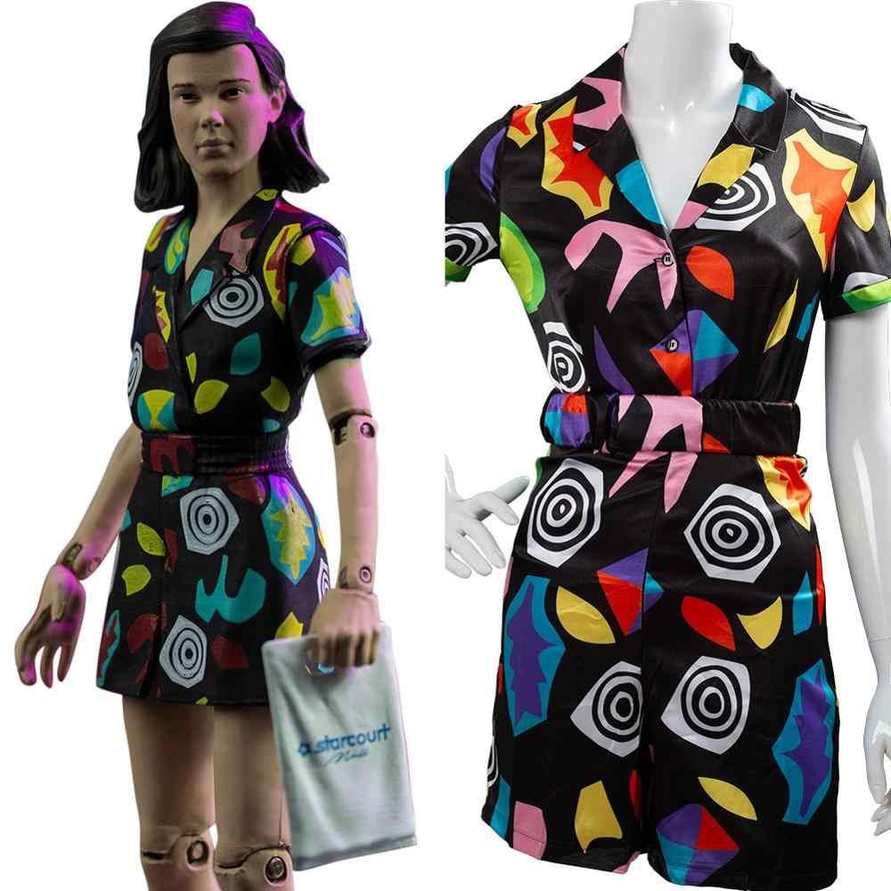 คนแปลกหน้า Season 3 คอสเพลย์ 11 Eleven ชุดเครื่องแต่งกายแฟนซีปาร์ตี้ชุดสำหรับหญิง