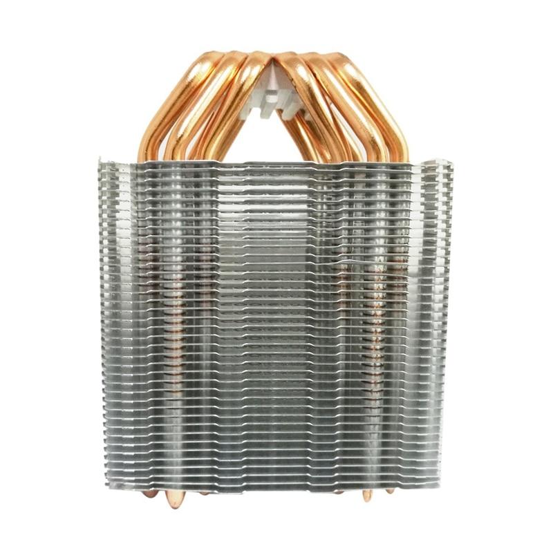 6 Heat Pipe Cpu Cooler No Fan Cpu Heatsink Fanless Cooling Radiator For Intel 775/1150/1155/1156/1366 For Amd All