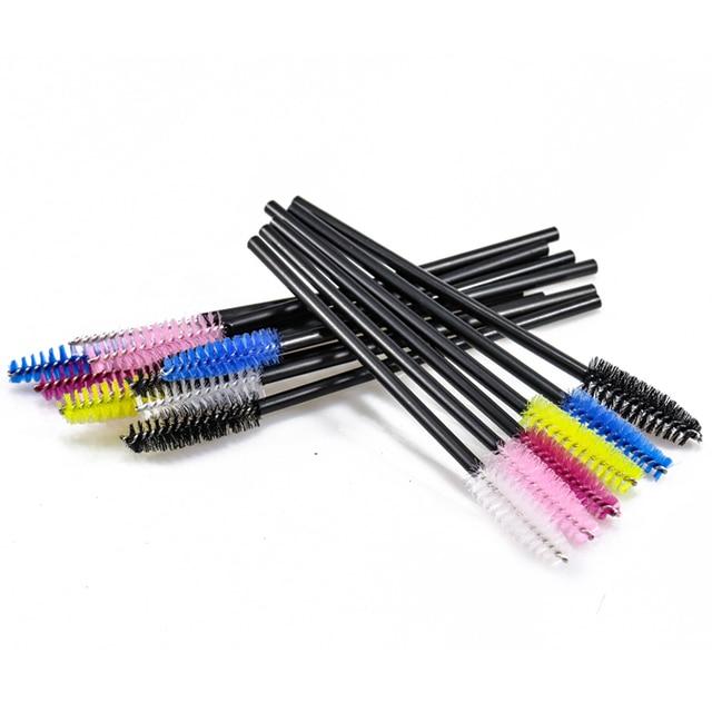 SinSo 50pcs Colorful Disposable Eyelash Applicator Wands Curler Brush Set Mascara Eyebrow Spoolers Comb Wands Spoolies Brushes 4