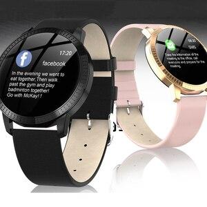Image 2 - Reloj inteligente CF18 IP67 para hombre y mujer, reloj inteligente deportivo con recordatorio y Bluetooth
