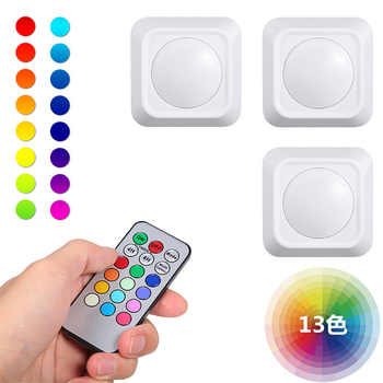 13 color LED cabinet light colorful RGB atmosphere remote control square night