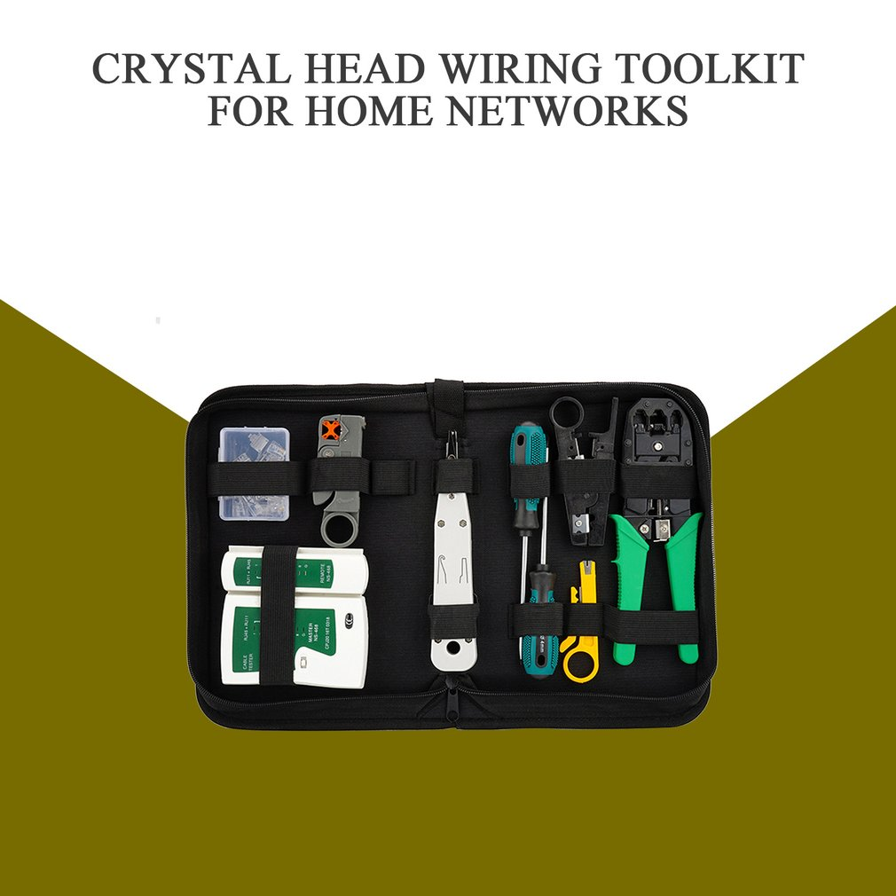 lowest price Network Cable Tester Tool LAN Utp Screwdriver Wire Stripper RJ45 Connector Computer Network Crimping Pliers Tool Kit Set