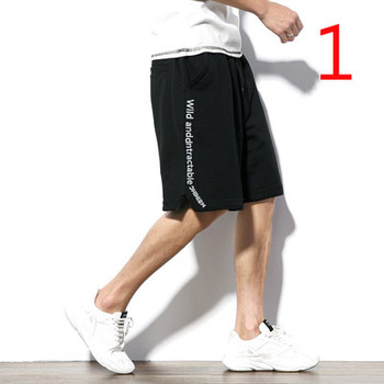 Male Korean version of the tide brand Slim youth elastic 5 points black casual shorts