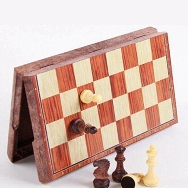 Tableau magnétique tournoi voyage Portable jeu d'échecs nouveau échecs plié conseil International magnétique jeu d'échecs jouant cadeau S 4