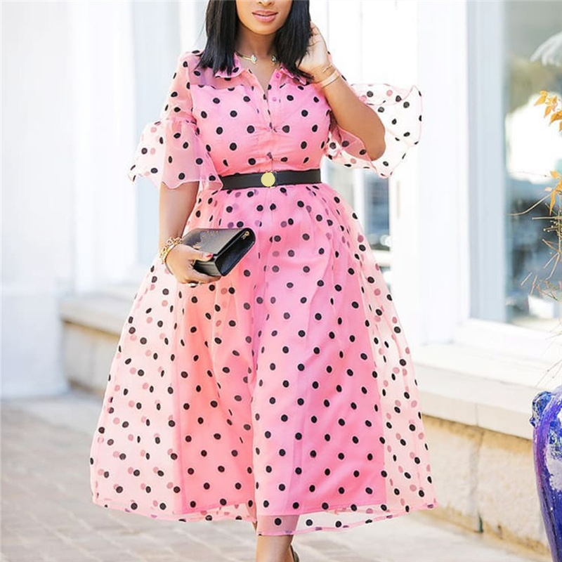2019 New Arrival Elegent Summer Fashion Style African Women Printing Plus Size Dress S-XXL