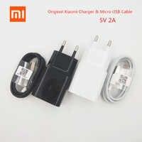 Xiaomi-cargador de pared de viaje con enchufe europeo Cable de datos Micro USB