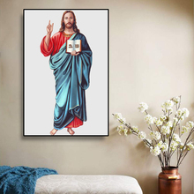 Portrait Of Jesus Christ Canvas Painting Classic Retro Posters And Prints Wall Art Picture For Living Room Decoration Home Decor недорого