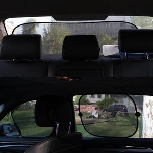 Image 2 - 黒の車の窓サンシェード太陽シェーディングボードカーシェードサンブロックブロック太陽保護 5 ピース/セット