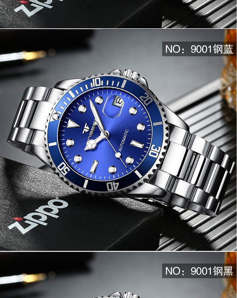 relógio masculino luxo automático relógio mecânico rolexable