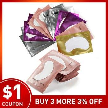 200 pairs Paper Patches Eyelash Under Eye Pads Lash Eyelash Extension Pillow Sticker Lint Free Tips Sticker Wraps Make Up Tools