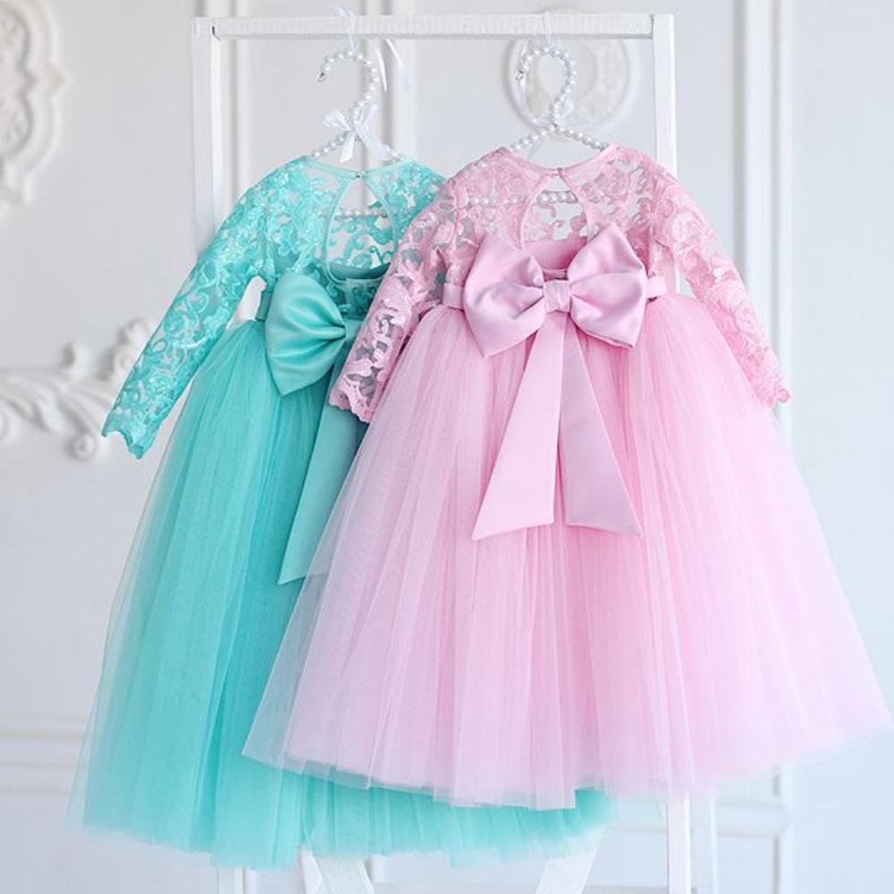 baby kinder blumenmädchen kleid bowknot party hochzeit brautjungfer  abendkleider