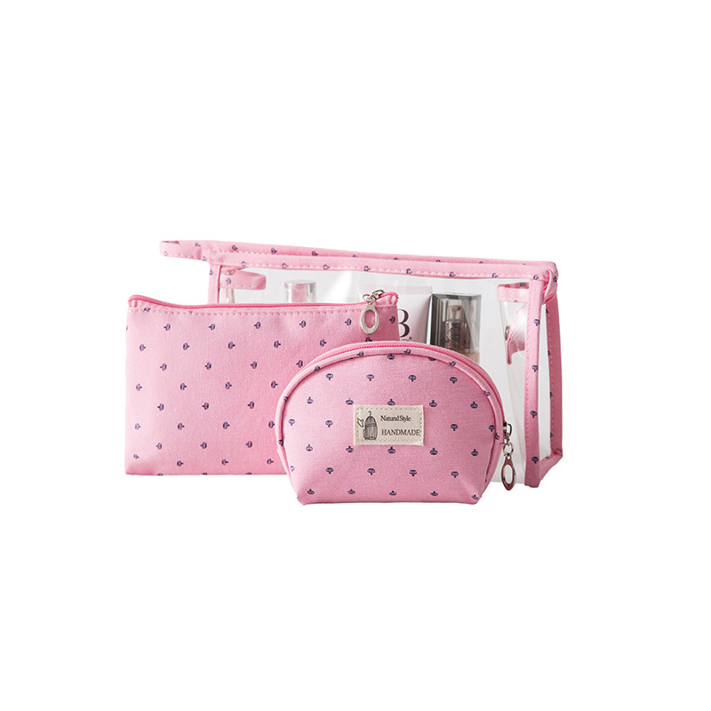 3 piece set Cosmetic Bag For Women Travel PVC Ladies Make Up Bags Toiletry Make Up Wash Organizer Set Pouch in Cosmetic Bags Cases from Luggage Bags