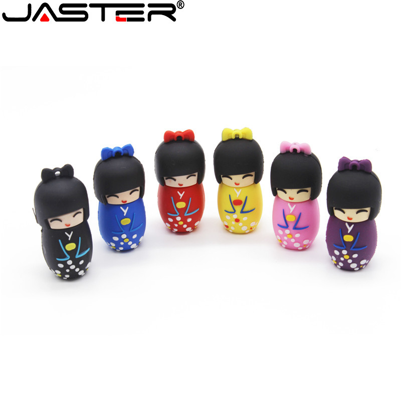 JASTER The Kimono Doll USB Flash Drive USB 2.0 Pen Drive Minions Memory Stick Pendrive 4GB 8GB 16GB 32GB 64GB 128GB Gift