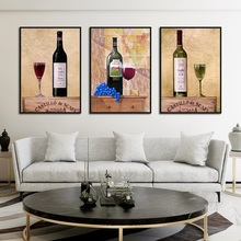 Get more info on the Vintage Art Wine Decorative Poster Print Red Wine Canvas Painting Picture Home Wall Art Aisle Modern Painting Decoration Custom