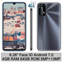 4G LTE Note 9 Pro 4G RAM+64G ROM Global Smartphones Unlocked Face ID 13MP 6.26