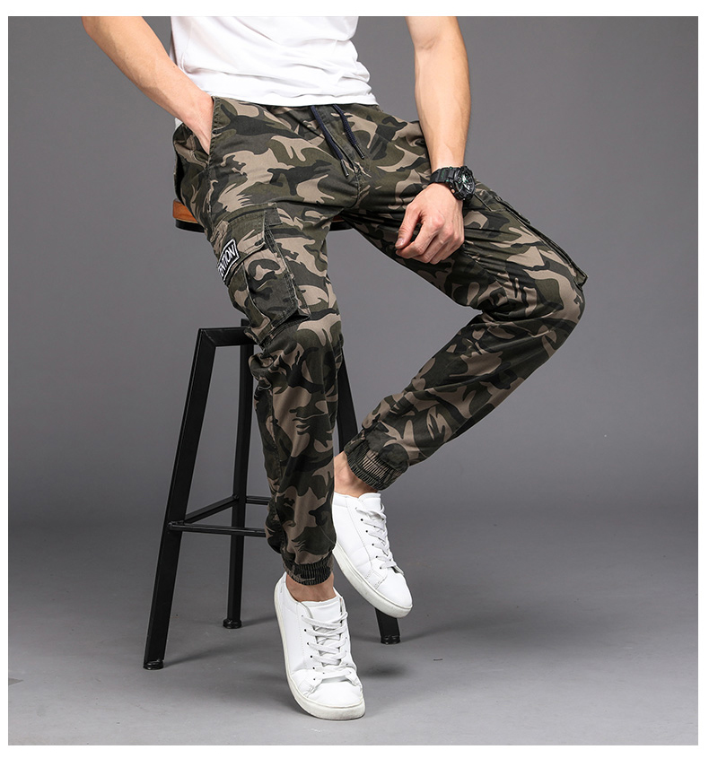KSTUN Camouflage Casual Pants Men Joggers Men's Trousers Drawstring Sweatpants Male Large Size Blue Military Army Cargo Pants Men Boys 23