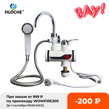 Water Heater Shower 220V Kitchen Faucet EU Plug Electric Water Heater 3000W Digital Display For Country House Cottage