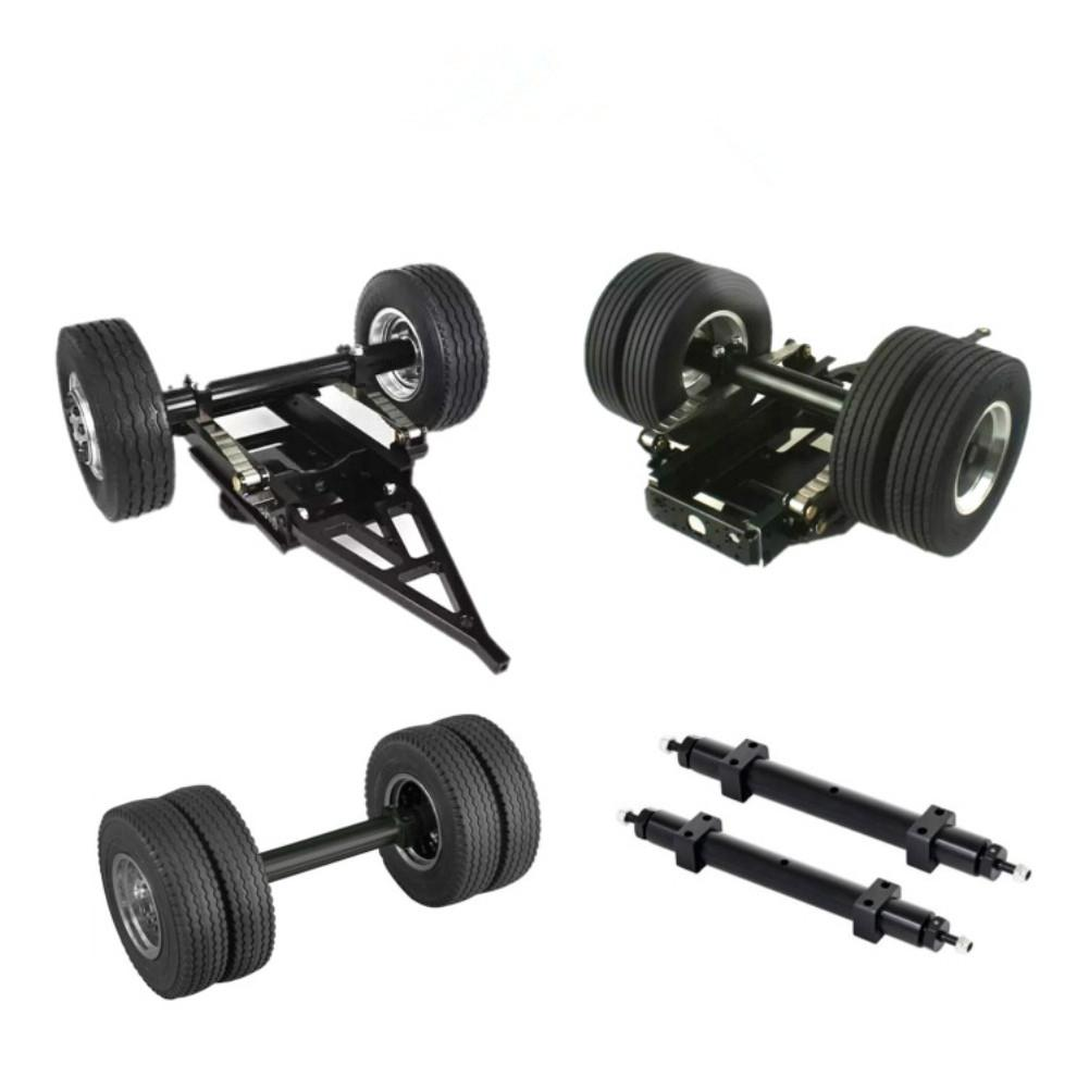 RCtown Metal Non-powered Rear Wheel Axle for 1/14 <font><b>TAMIYA</b></font> RC Truck Tractor <font><b>Trailer</b></font> Spare <font><b>Parts</b></font> image