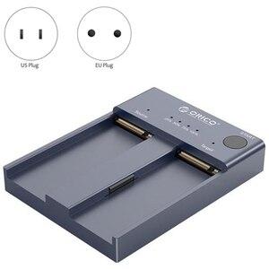 ORICO Dual Bay M.2 NVME SSD Enclosure Offline Clone USB C 3.1 Gen2 10Gbps for M/M&B Key NVME PCIe SSD Hard Drive Reader