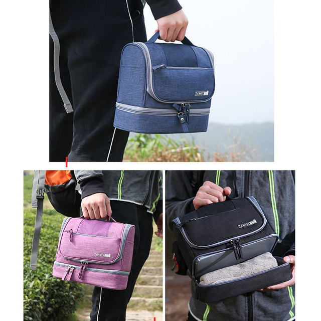 UOSC Waterproof Men Hanging Makeup Bag Oxford Travel Organizer Cosmetic Bag For Women Necessaries Make Up Case Wash Toiletry Bag 5