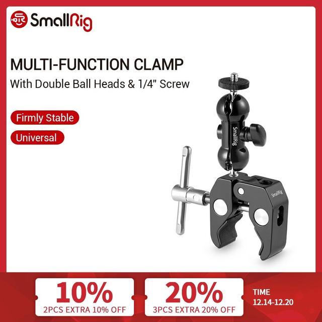 SmallRig Multi function Double BallHead Arm Clamp For DJI Ronin Gimbal DSLR Camera+Locking Knob Kit To Mount Monitors Led  1138