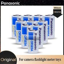 10 sztuk Panasonic CR123A CR17345 CR123 123A 3V bateria litowa do aparatu latarka miernik gazu czujnik dymu podstawowa sucha bateria