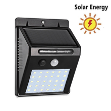 Solar Garden Light LED Solar Lamp Motion Sensor Waterproof Outdoor Lighting Decoration Street Lights Security Wireless Wall Lamp