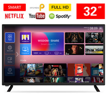 32 inch LCD HD Smart Android TV DVB-T+C+S/T2/S2 TV 1920*1080p YouTub Android Television Monitor HDMI USB From Poland