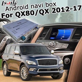 Lsailt Android GPS navigation system box for Infiniti QX80 / QX56 Y62 2012-2017, with G Q70 QX50 QX60 QX70 etc youtube waze image