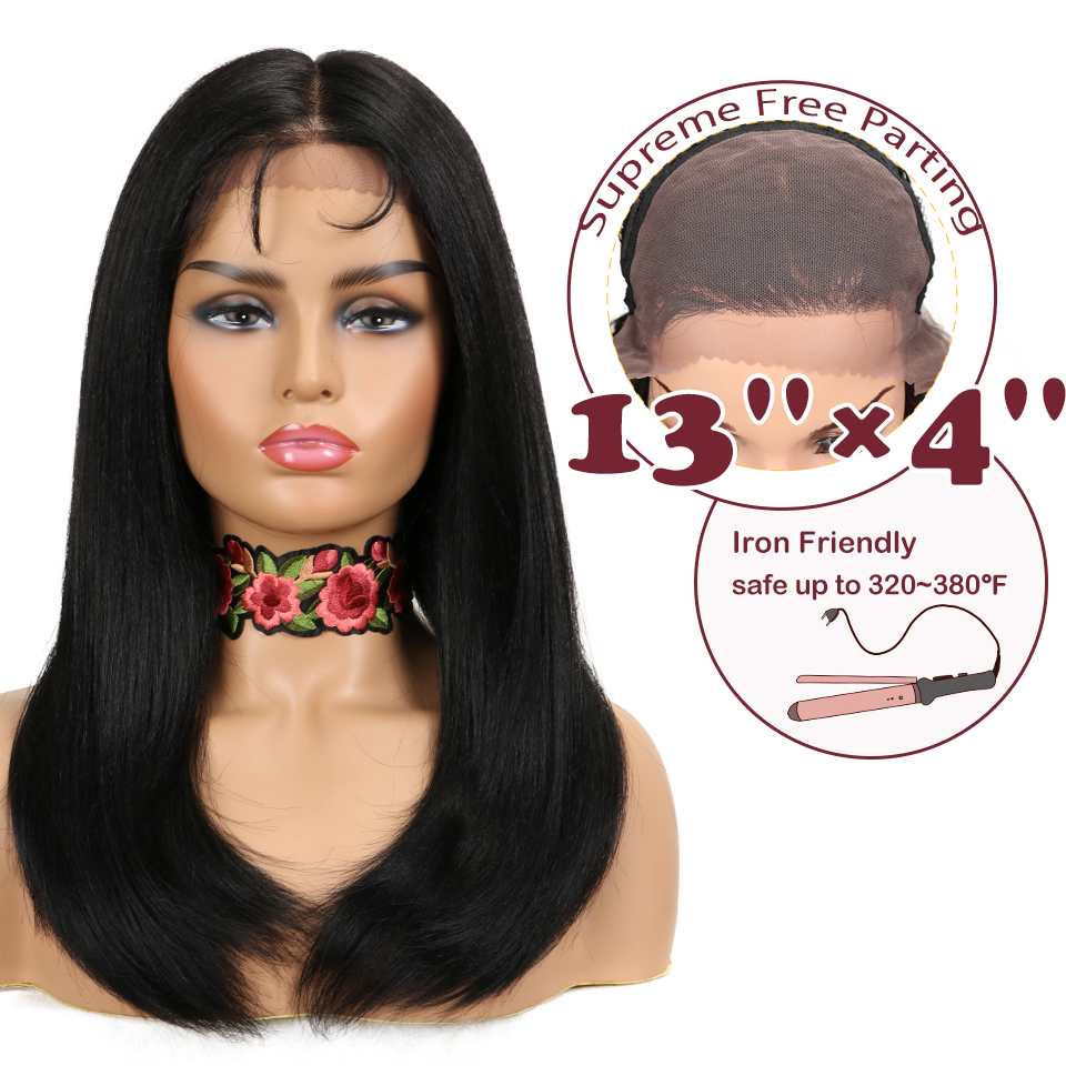 "Magic 22""Inch 13X4 Straight Synthetic Lace Front Wig For Black Women Heat Resistant Hair Black Red Color Copper Wigs"