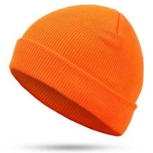 Hat Hip-Hop hedging cap red blue black orange stretch Knit Beanies autumn Winter Hat for Man Woman Ski Cap bonnet Невинная шапка цены