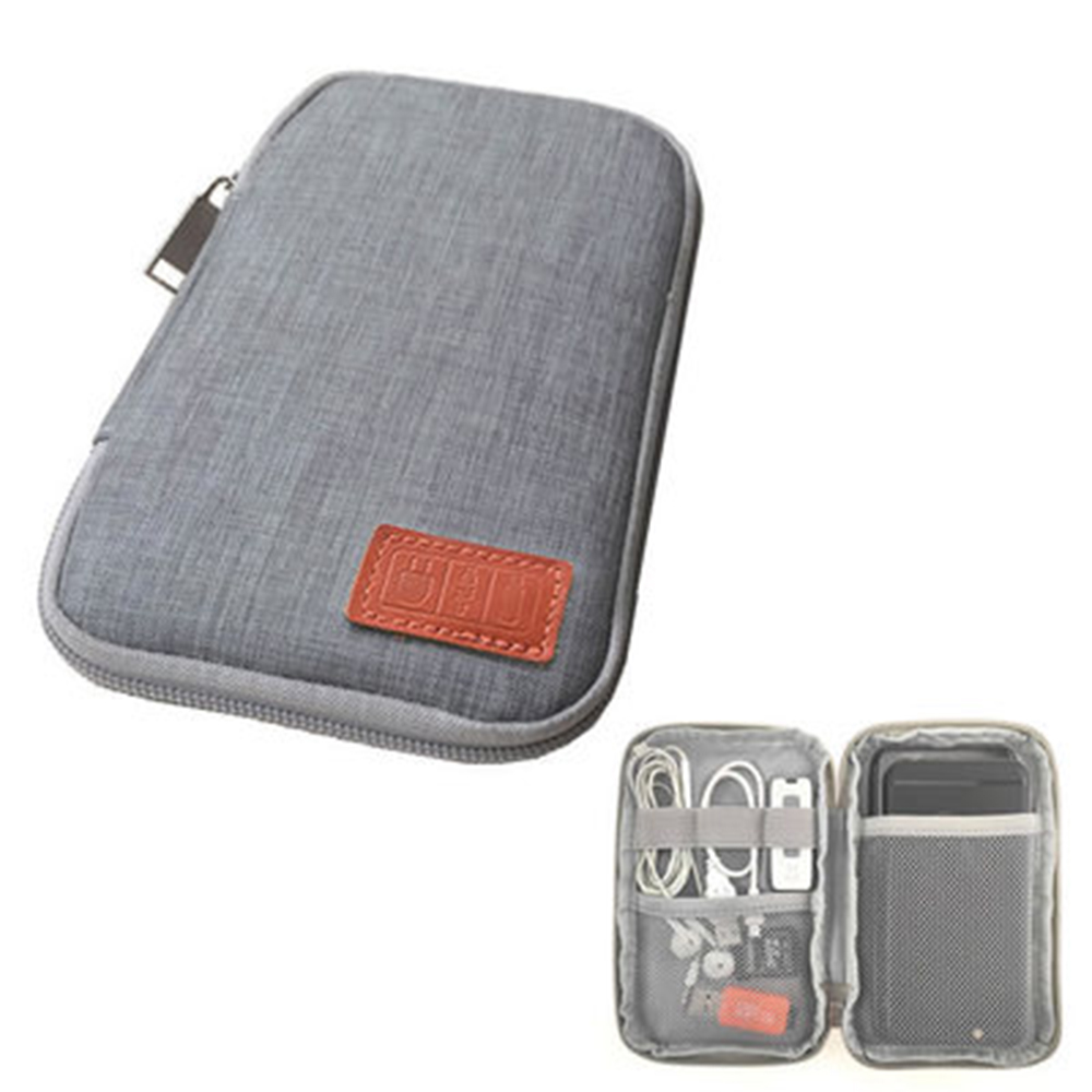 Travel Kit Small Bag Mobile Phone Case Digital Gadget Device USB Cable Data Cable Organizer Travel Inserted Bag Storage Bag