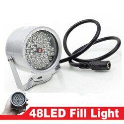 48IR światło led iluminator IR lampa podczerwień kamera Night Vision Metal wodoodporna CCTV wypełnij światło dla CCTV kamera monitorująca w Akcesoria do telewizji przemysłowej od Bezpieczeństwo i ochrona na