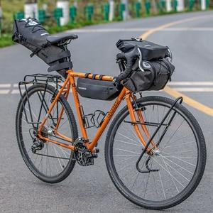 Image 4 - ROCKBROS sac de vélo grande capacité étanche Tube avant sac de cyclisme vtt guidon sac avant cadre coffre sacoche vélo accessoires